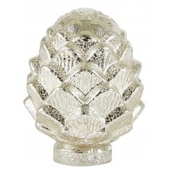 Bovictus Large Glass Pinecone With Timer - Metallic