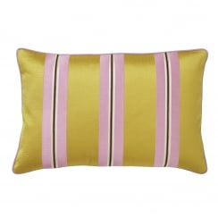 Bungalow Embroidered Ochre Cushion Cover