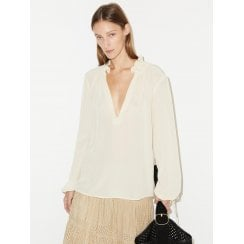 By Malene Birger Chestnutt Pure Silk Shirt - Eggshell