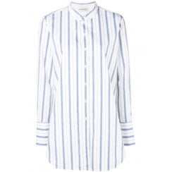 By Malene Birger Cotton Shirt - Crisp White/Blue