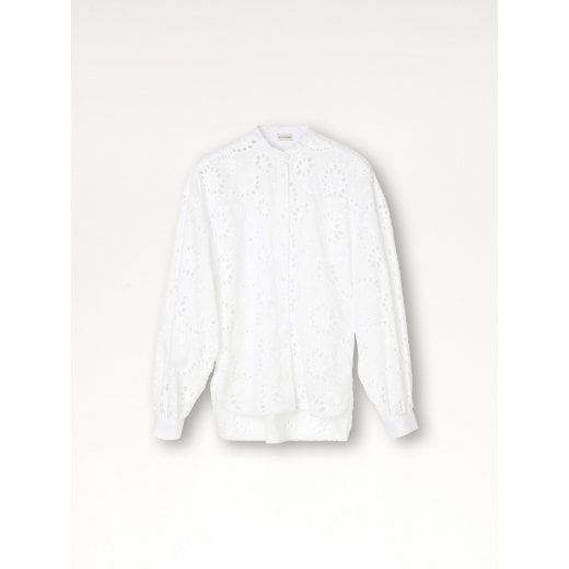 By Malene Birger Emmett Shirt -Crisp White With Embroidery