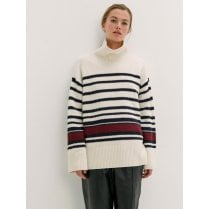 By Malene Birger Hedera Jumper - Offwhite Stripe