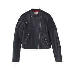By Malene Birger Imalas Leather Biker Jacket - Black