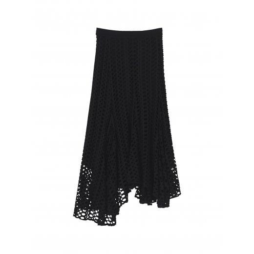 By Malene Birger Pointelle skirt - Black