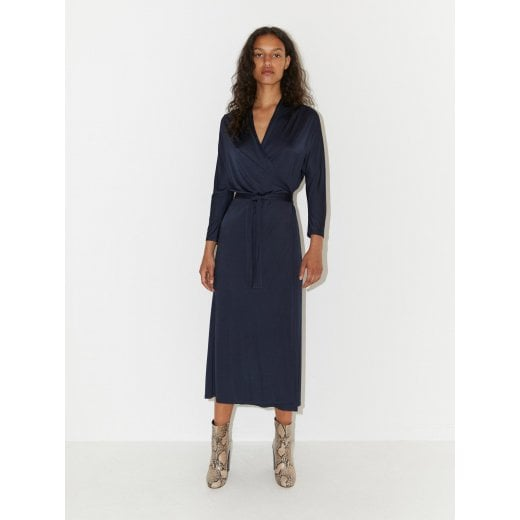 By Malene Birger Yasmin Wrap Dress - Dark Blue