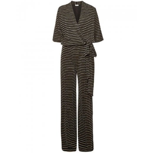 By Malene Birger Zhou Striped Wrap Jumpsuit