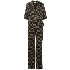 By Malene Birger Zhou Striped Wrap Jumpsuit