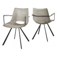 Canett Cayman Chair with Armrest - Off White