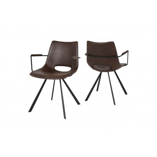 Canett Coronas Chair with Armrest - Dark Brown