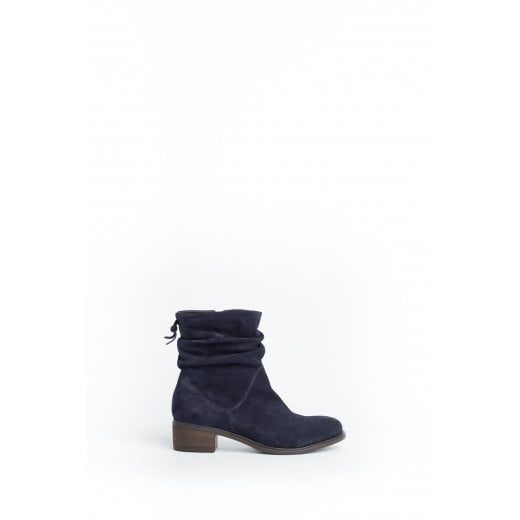 Cara London Reilly Slouch Ankle Boot - Dark Blue