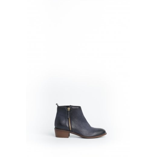 Cara London Saluki Ankle Boot - Dark Blue