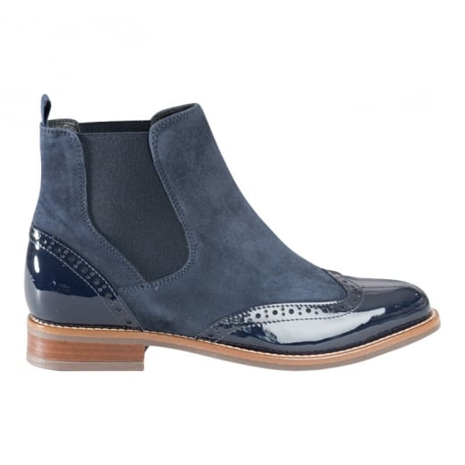 Cara London Salute Suede Boot - Marine Blue
