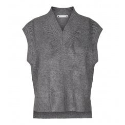 Co Couture Anisa Vest Knit - Grey
