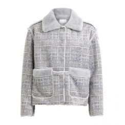 Coster Copenhagen Faux Fur Jacket - Blue Check