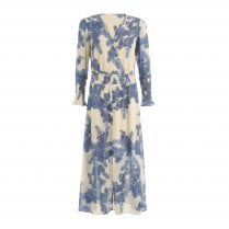 Coster Copenhagen Long Dress in Blue Print