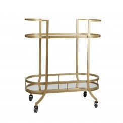 Cozy Living Bar Trolley in Soft Gold