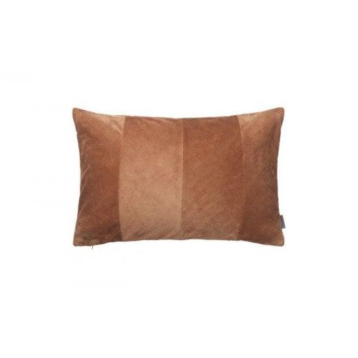Cozy Living Corduroy Herringbone Cushion - Terracotta