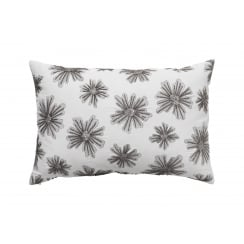 Cozy Living Embroidered Flower Cushion - Light Grey 40x60cm (cover only)