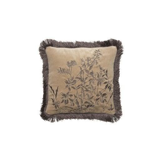 Cozy Living Jazz Embroidered Cushion - Alpaca