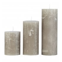 Cozy Living Large Rustic Candle - Stone