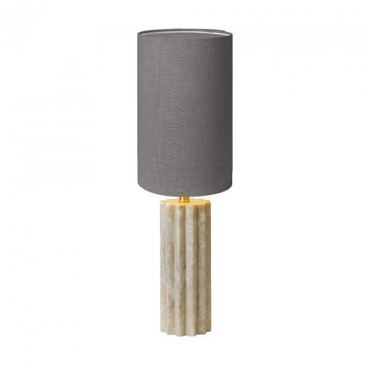 Cozy Living Marble Beige Lamp Base with Pepple Shade