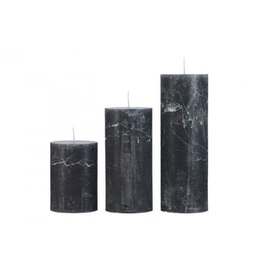 Cozy Living Medium Rustic Candle - Anthracite