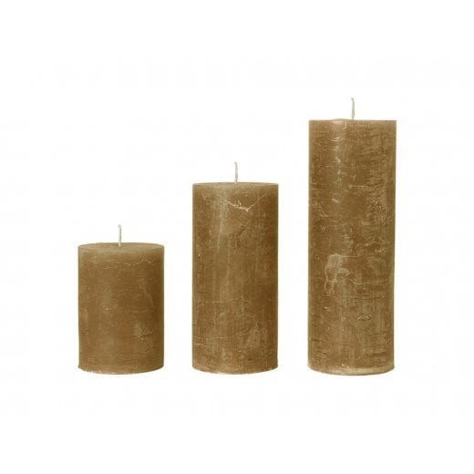 Cozy Living Rustic Amber Candle  D10/H35cm