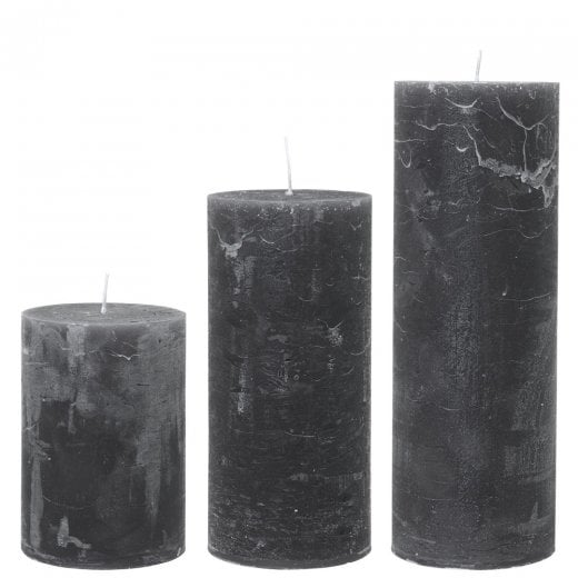 Cozy Living Rustic Anthracite Candle