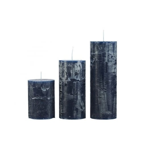 Cozy Living Rustic Blue Candle - Medium