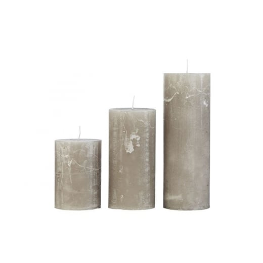 Cozy Living Rustic Stone Candle - Medium