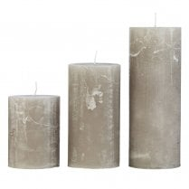 Cozy Living Rustic Stone Candle
