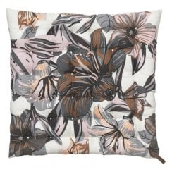 Cozy Living Seat Pad Lily Flower Mud  40 x 40cm