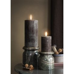 Cozy Living Small Marble Candle Holder - Green D11/H11cm