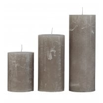 Cozy Living Small Rustic Candle - Taupe