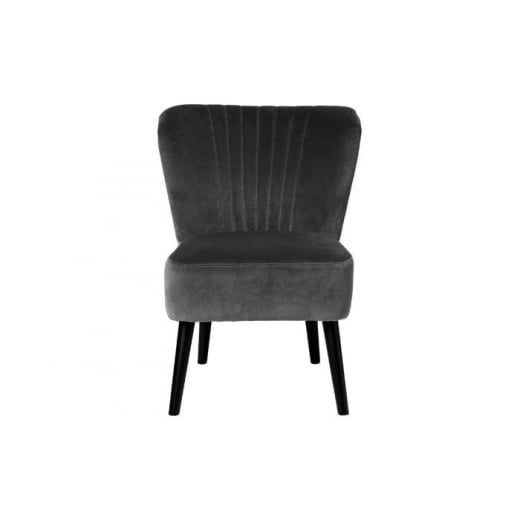 Cozy Living Velvet Copenhagen Chair   Grey