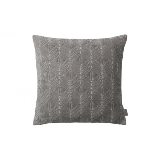 Cozy Living Velvet Quilted Maple Cushion - Mud