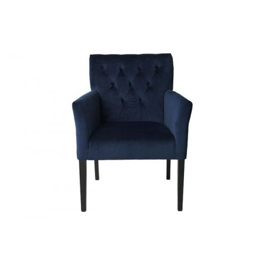 Cozy Living Velvet Sander Chair - Royal Blue