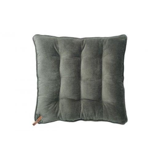 Cozy Living Velvet Seat Pad - Army