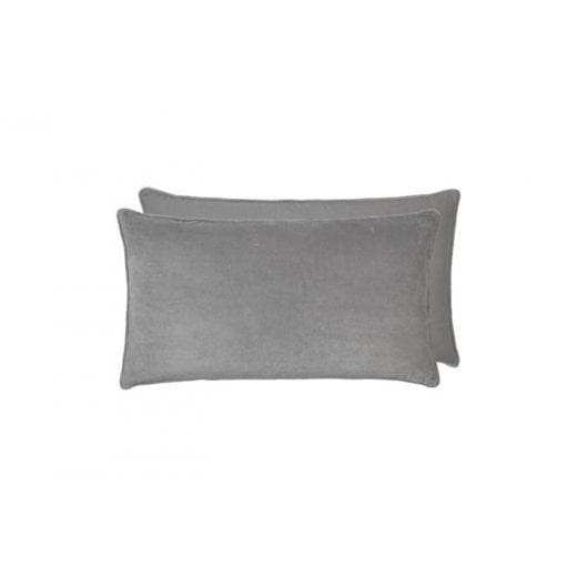 Cozy Living Velvet Soft Gable Cushion - Mud