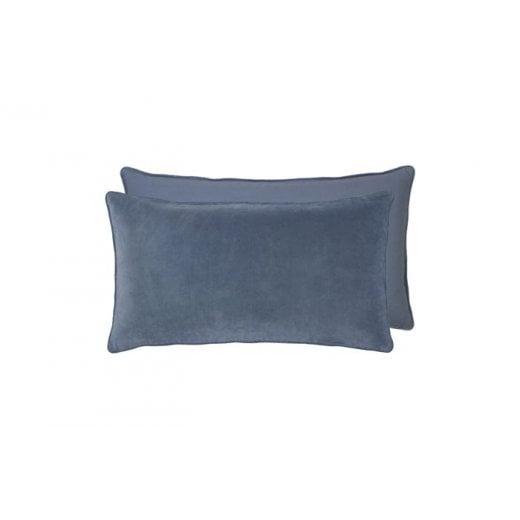 Cozy Living Velvet Soft Gable Cushion - Ocean