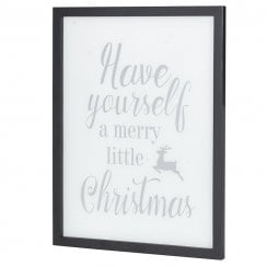 Danish Collection A framed Christmas Picture - White
