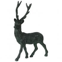 Danish Collection A Glittery Standing Deer - Green
