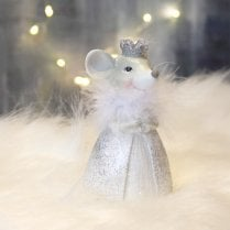 Danish Collection Agira Princess Mouse - Grey