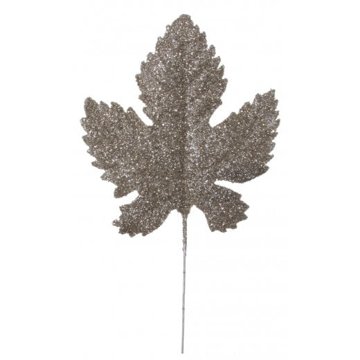 Danish Collection Antique Glitter Maple Leaf