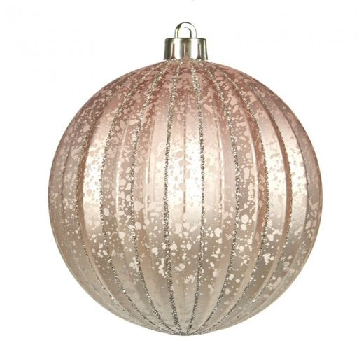 Danish Collection Antique Ribbed Bauble - Champagne