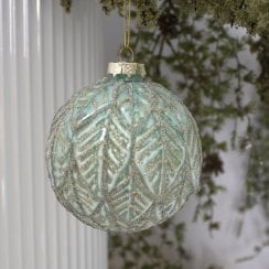 Danish Collection Bauble Beaded Pattern - Bright Mint D10cm