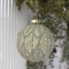 Danish Collection Bauble Beaded Pattern - Sage Mint D10cm