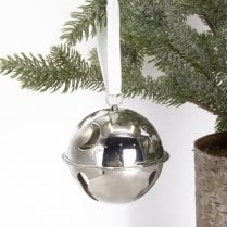 Danish Collection Bauble Bell - Silver Nickel H8cm