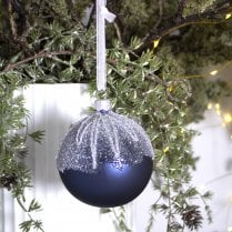 Danish Collection Bauble - Dark Blue Mat H8cm