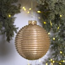 Danish Collection Bauble - Gold H10cm